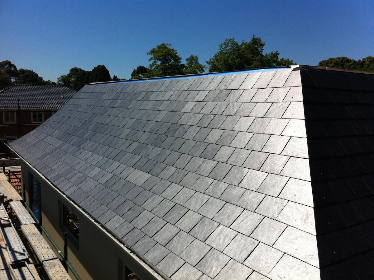 Bell cast slate roofing shape