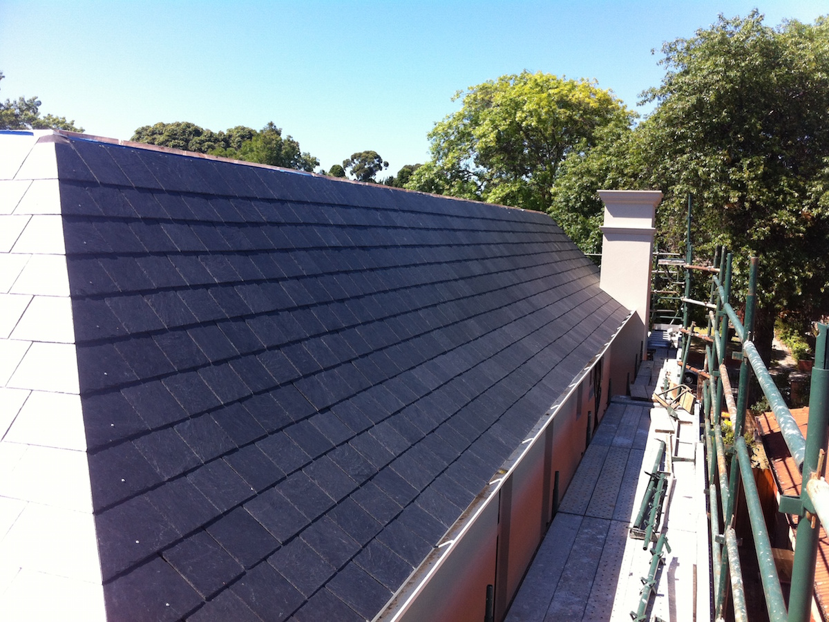 slate roof mitred hip detail
