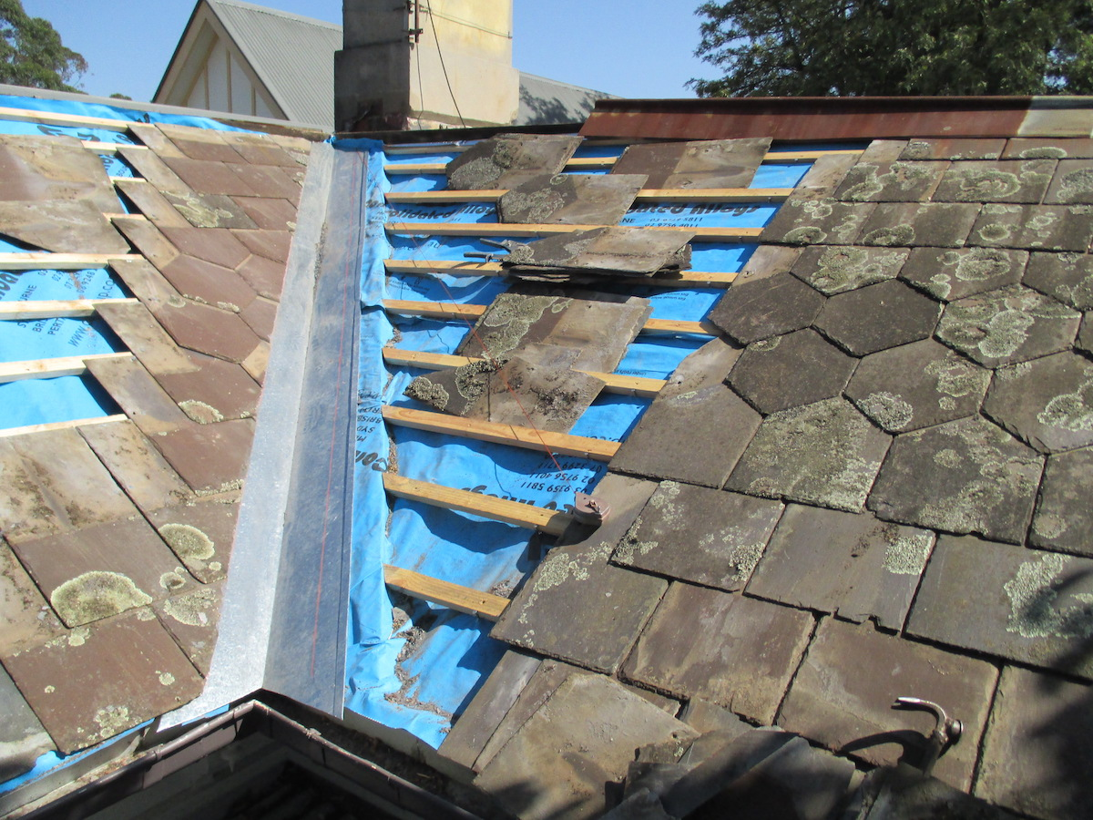 Original slate roof restoration Melbourne
